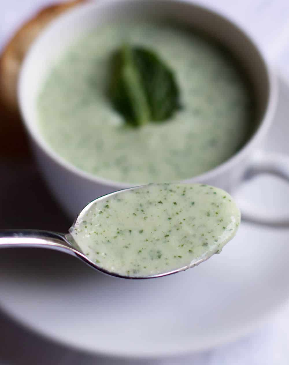 Chilled Avocado Cucumber Soup - A perfect summer use of in-season vegetables and herbs. | Mother Would Know