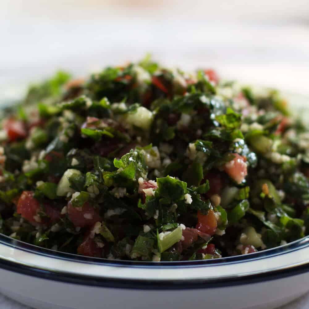 Not Quite Traditional Tabouli is a great make ahead salad for a party or large family dinner. From Mother Would Know