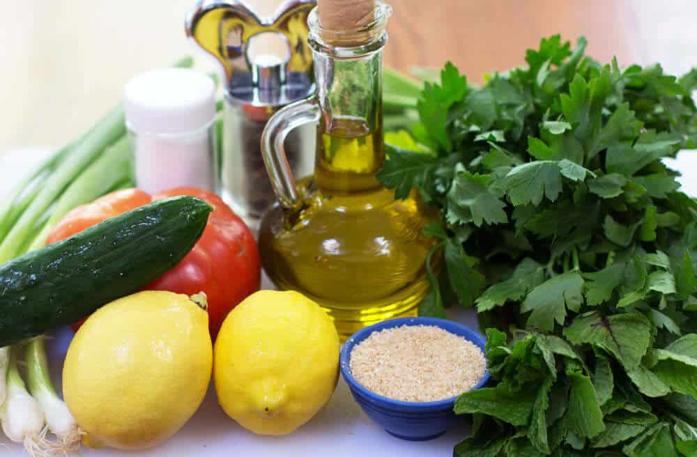 Ingredients for Not Quite Traditional Tabouli