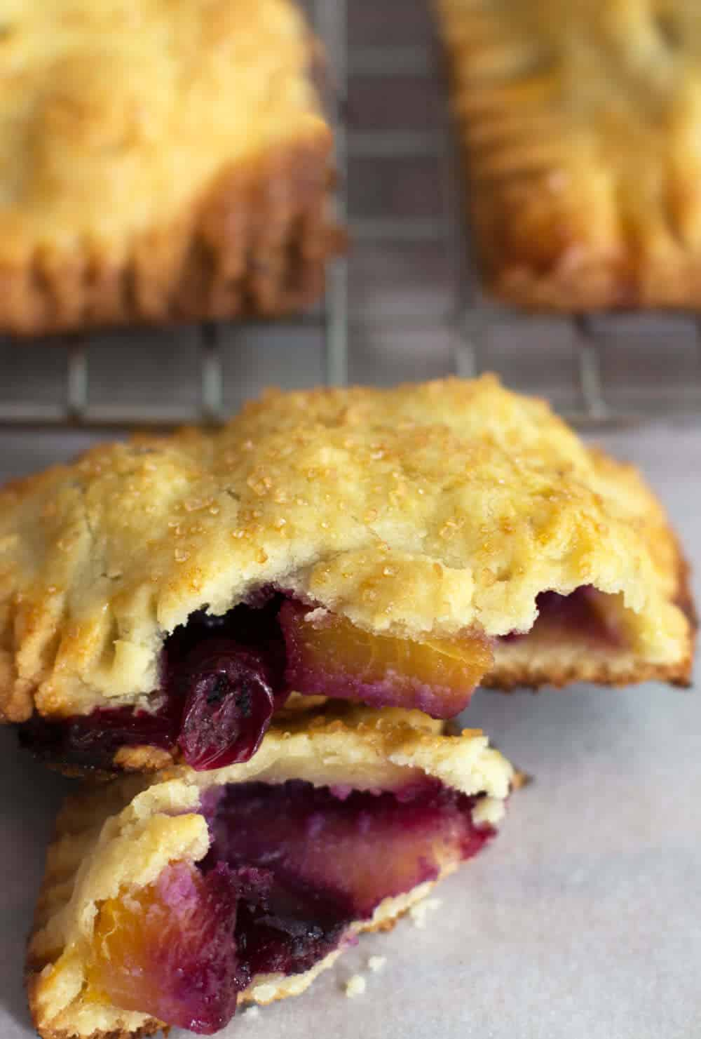 Simple Blueberry Peach Hand Pies