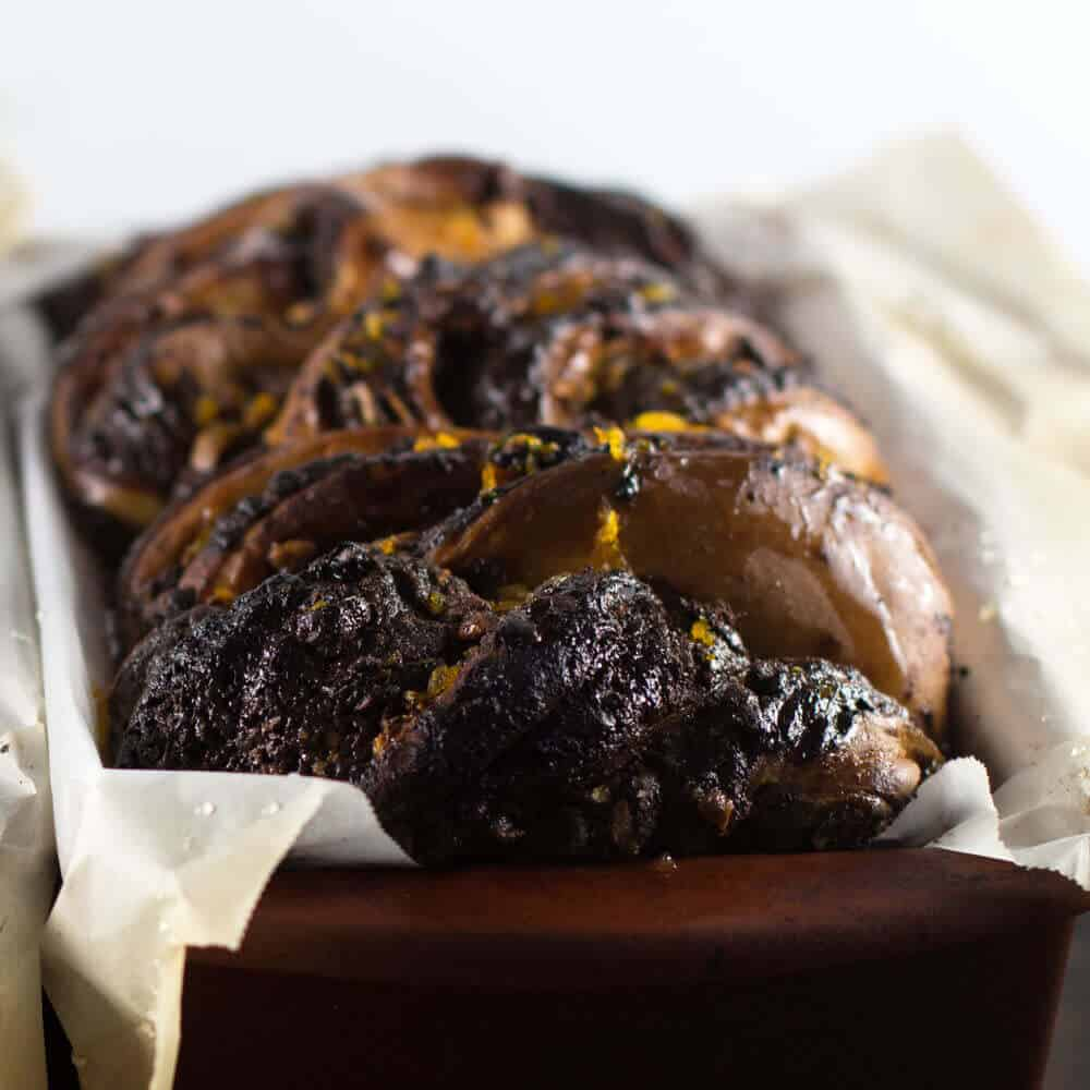 Chocolate Tahini Babka - enjoy it on the Jewish Holidays or anytime. | Mother Would Know