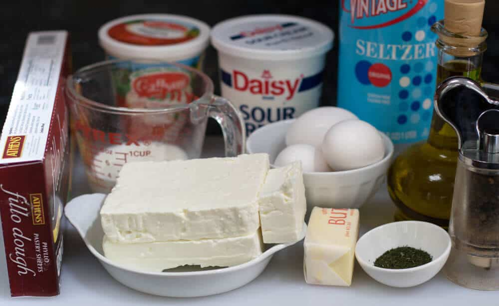 Ingredients for Serbian Gibanica