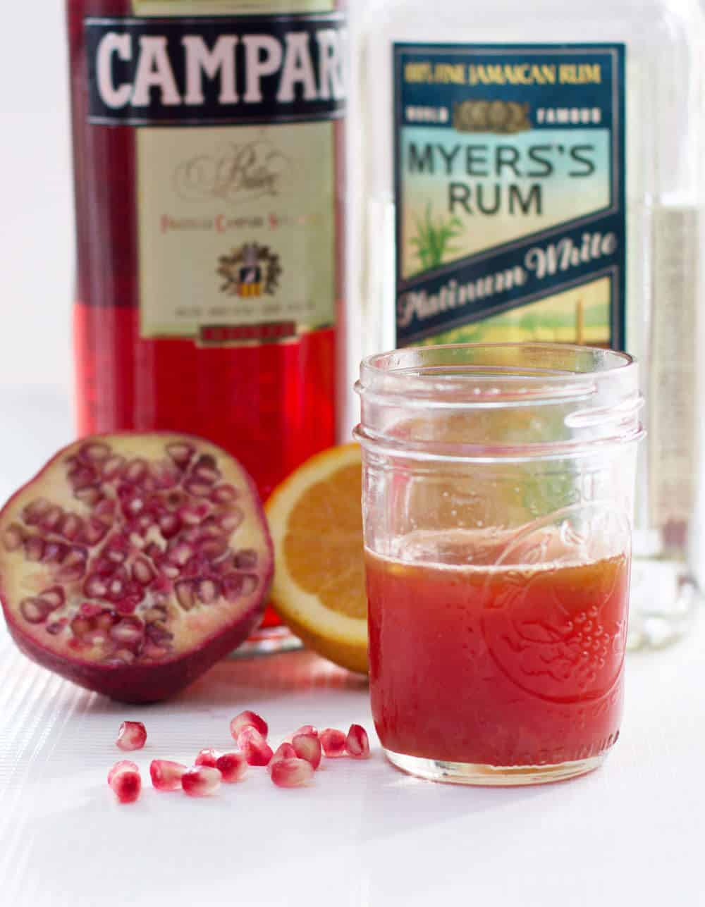 Ingredients for a Halloween Pomegranate Negroni | Mother Would Know