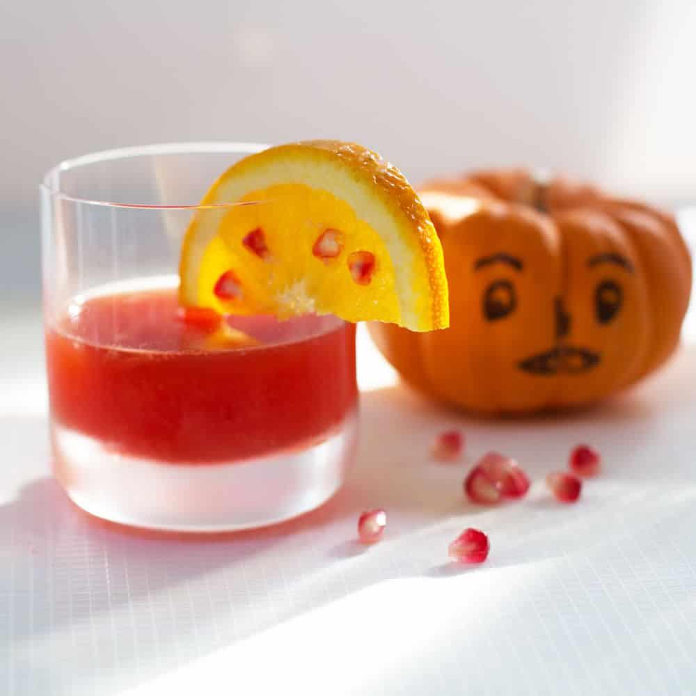 Halloween Pomegranate Negroni