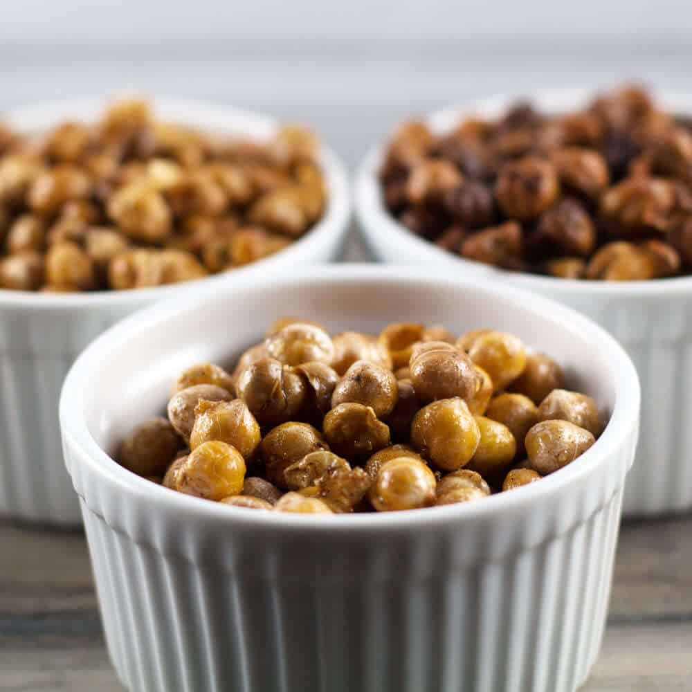 Oven-roasted chickpeas are a sweet, savory, or spicy treat you won't be able to resist. | Mother Would Know