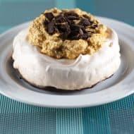 Pumpkin Chiffon Chocolate-Bottomed Pavlova