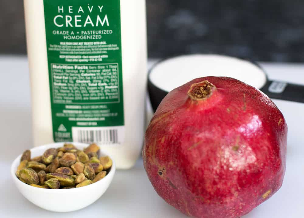 Ingredients for Pomegranate Possets.