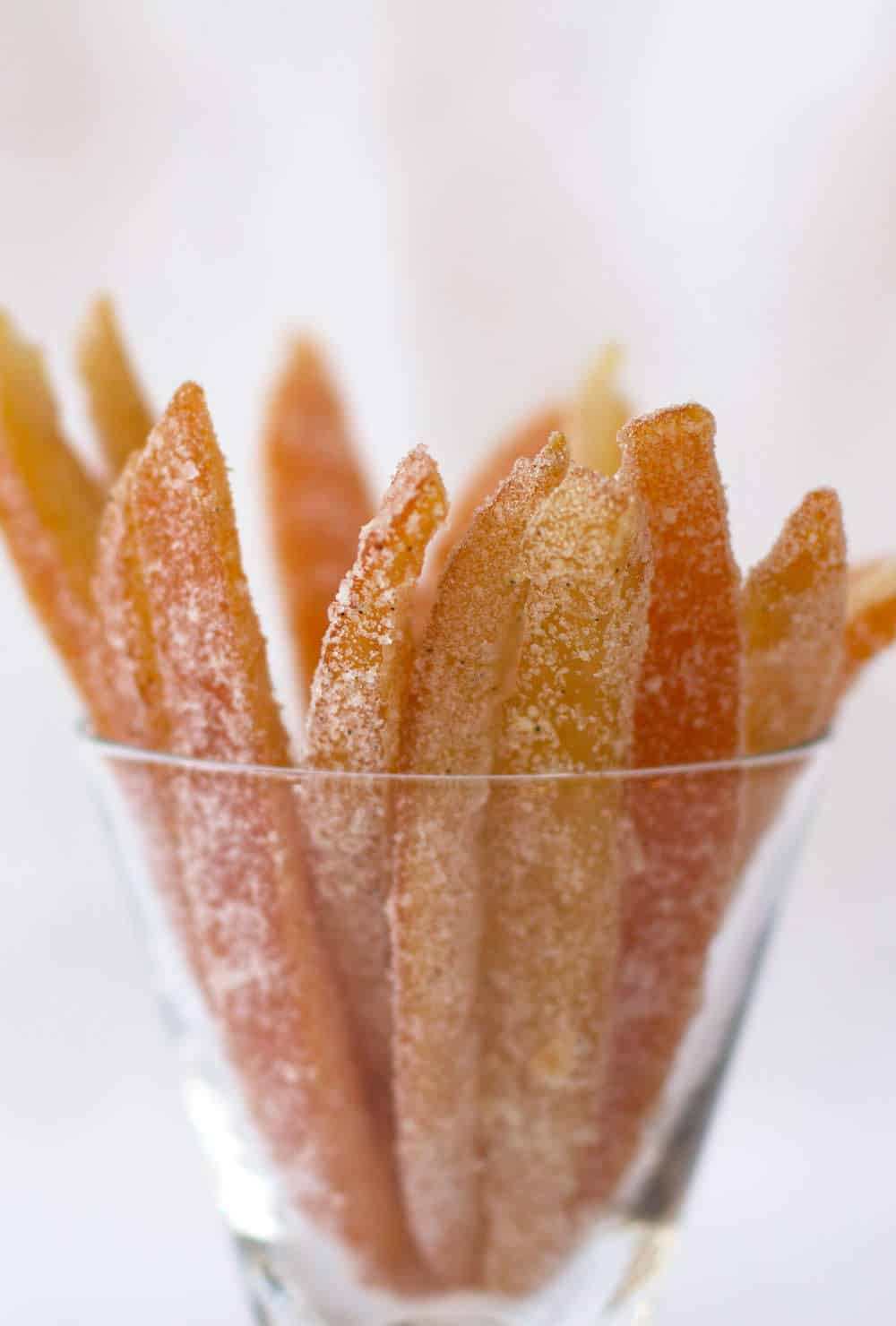 Spicy Candied Orange Peel - an aromatic and addictive version that is the perfect holiday gift. Save some for snacking on too.