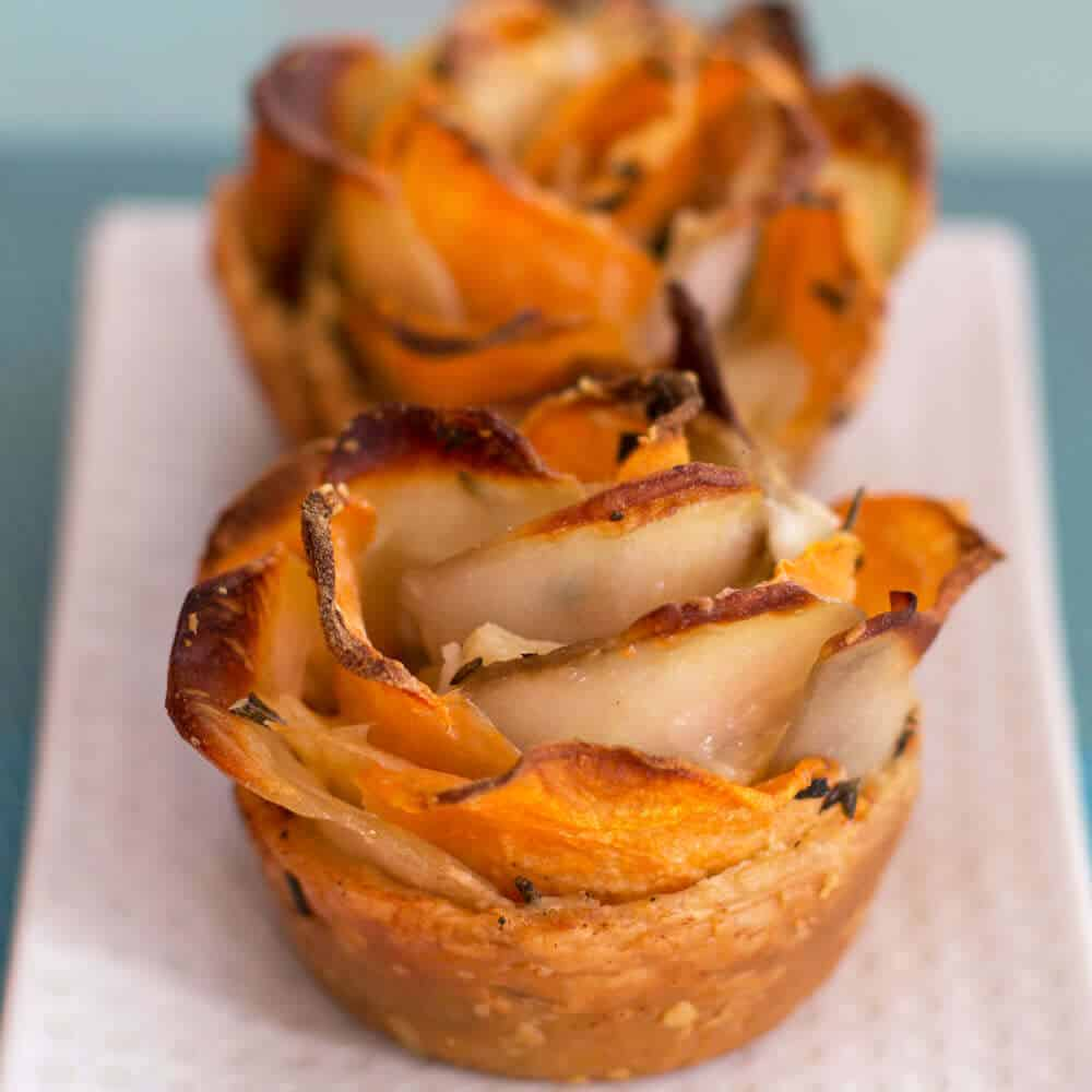 Puff Pastry Potato Roses look elegant but are simple to make once you have this step-by-step guide. | Mother Would Know