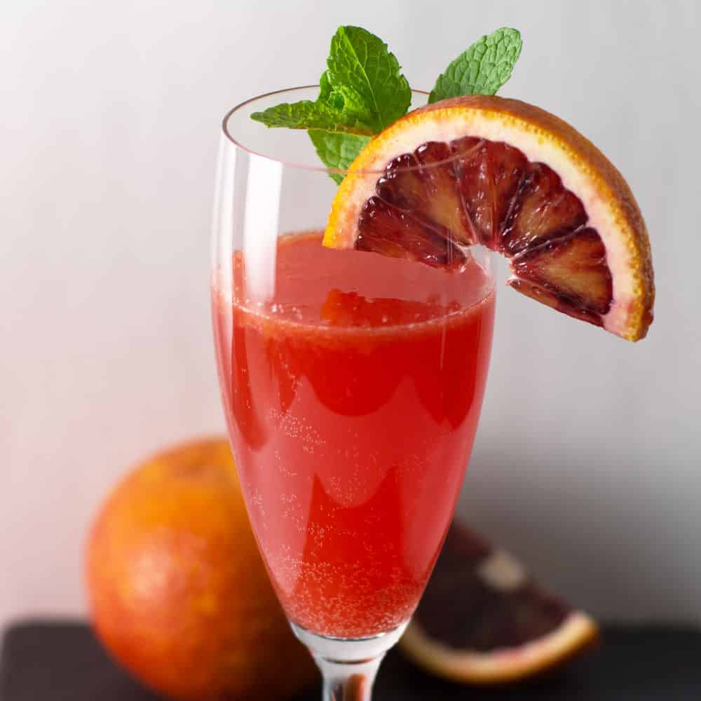 Bubbly Blood Orange Campari Cocktail