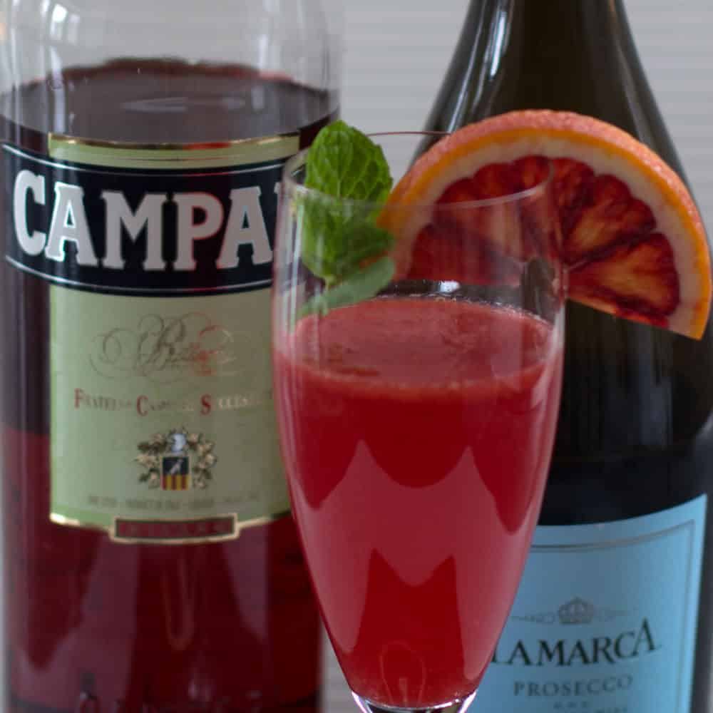 Bubbly Blood Orange Campari Cocktail | Mother Would Know