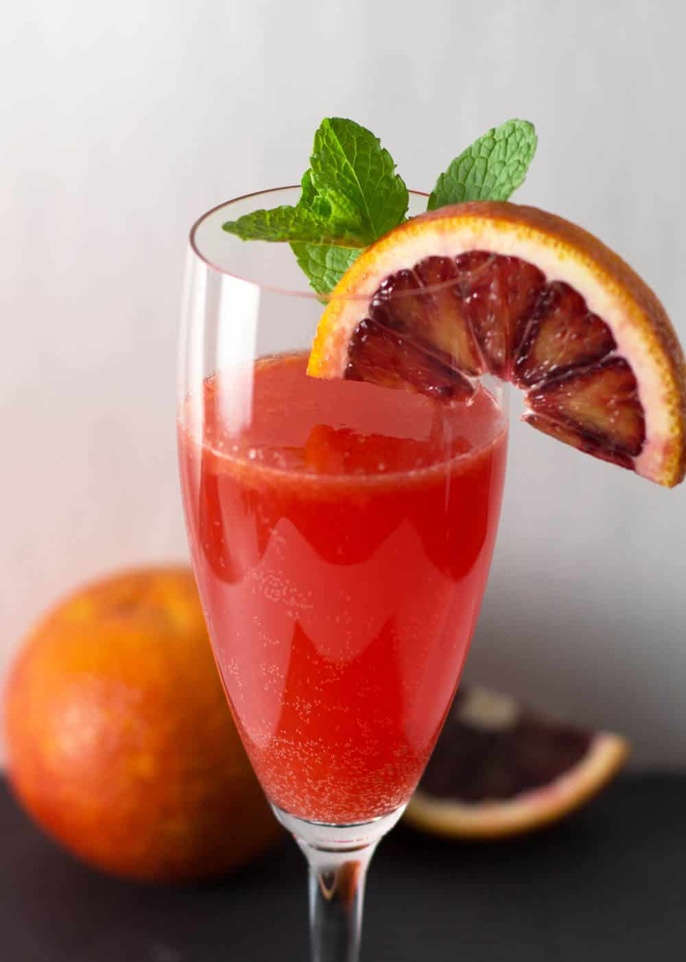 A Bubbly Blood Orange Campari Cocktail - simple and elegant. | Mother Would Know