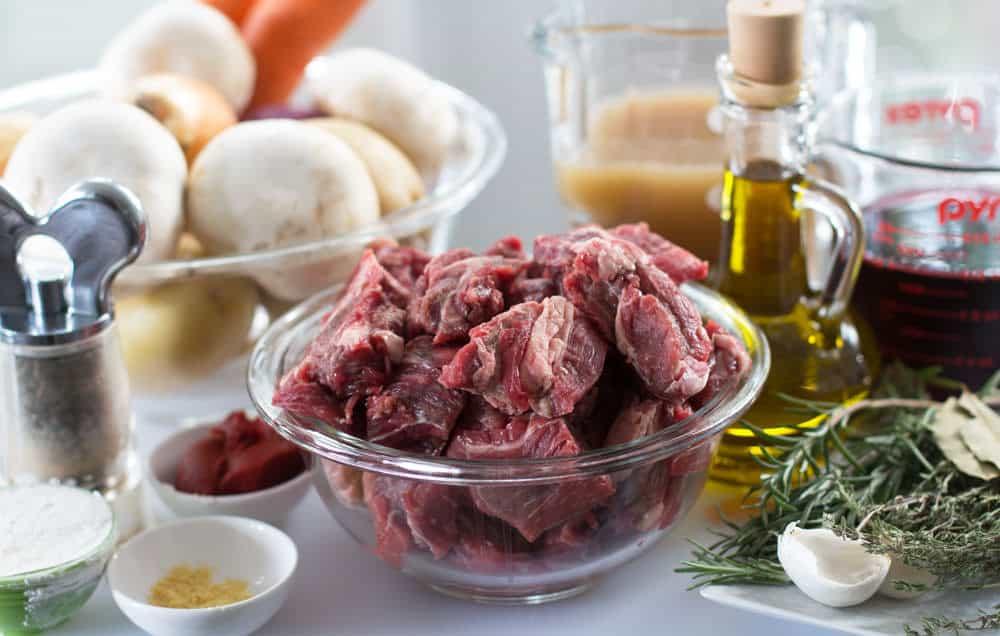 Ingredients for Slow Cooker Beef Vegetable Stew.