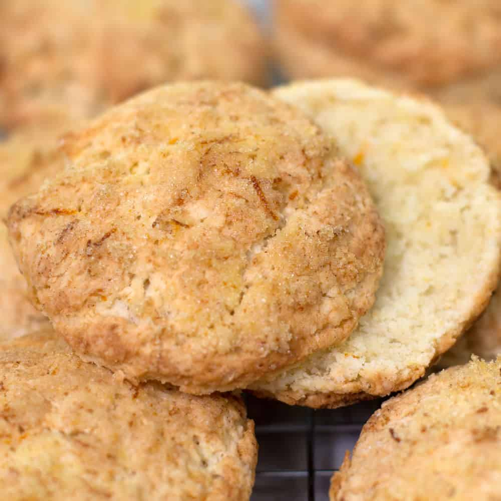 Buttermilk biscuits made with soft (White Lily) flour.