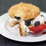 Slightly Sweet Orange Buttermilk Biscuits for Berry Shortcakes