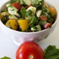Summery Tomato Cucumber Mint Salad