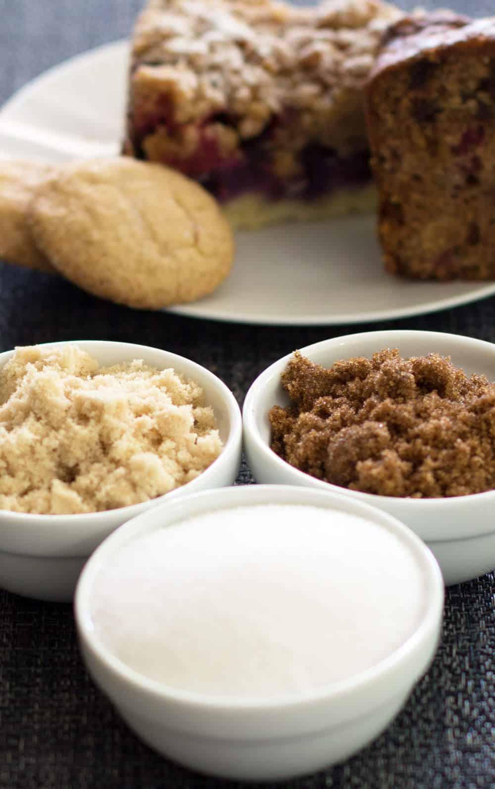 Granulated, Light Brown & Dark Brown Sugar
