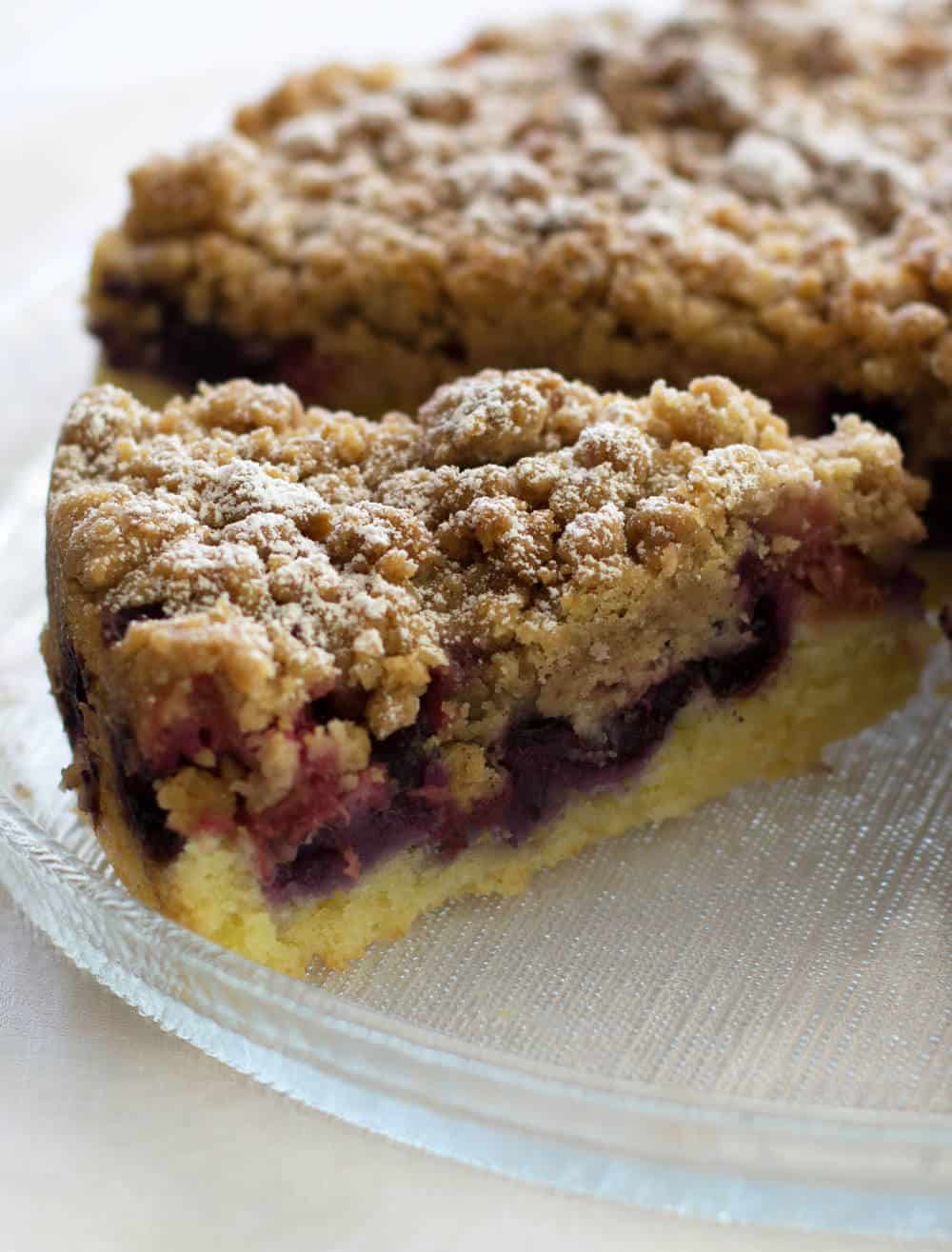 Blueberry Rhubarb Streusel Cake Mother Would Know