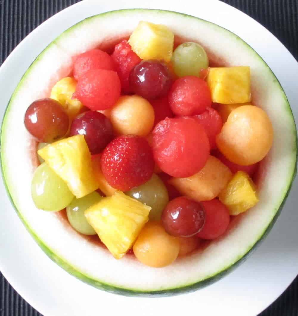 Wash fruits and vegetables even if you throw away the rind or skin.