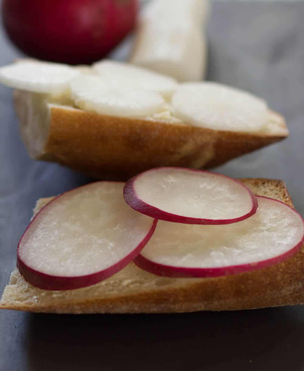 A simple, delicious way to serve radishes - with bread and butter and a touch of sea salt. | Mother Would Know
