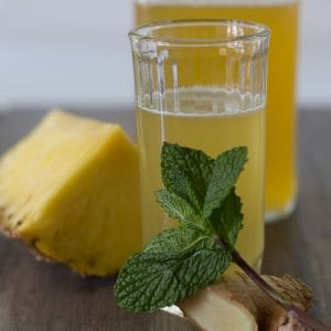 Pineapple Mint Shrub Cocktail