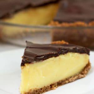 Boston Cream Pie Reinvented as Pie