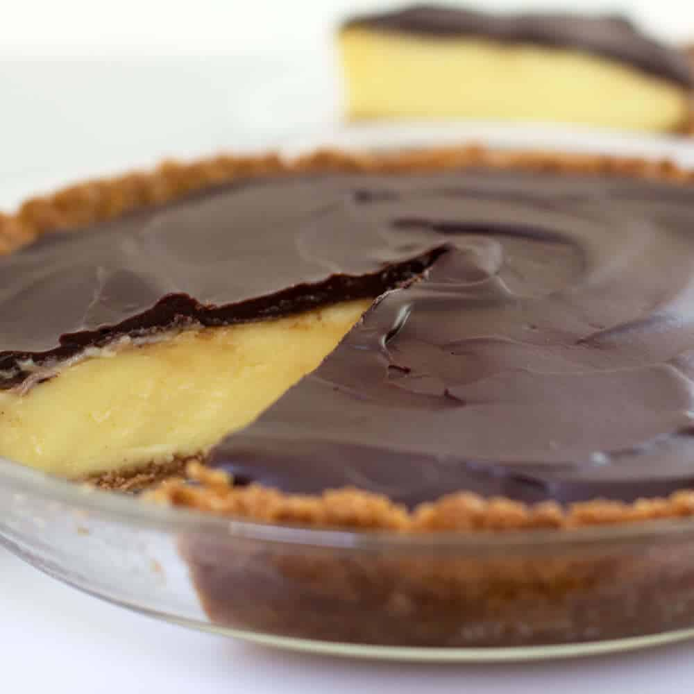 Boston Cream Pie reinvented as pie.
