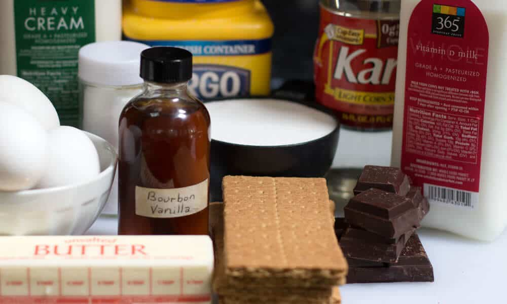Ingredients for Boston Cream Pie.