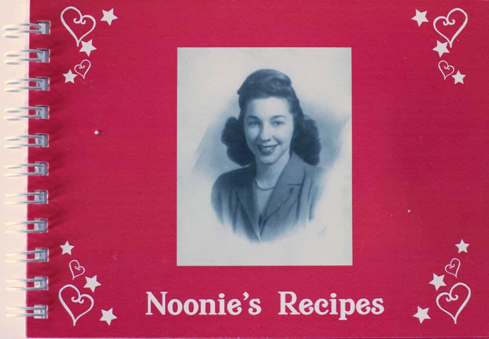 Front cover of book of Noonie's recipes