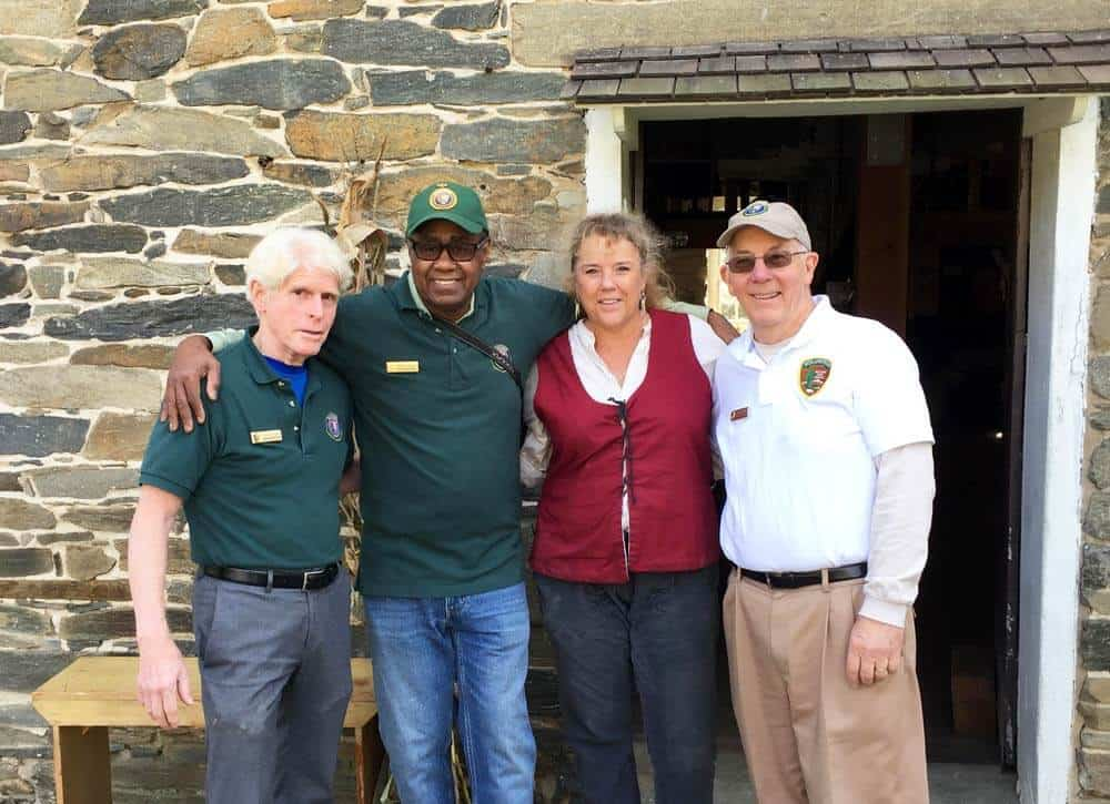 Volunteers and staff at Peirce Mill in Rock Creek Park, Washington DC