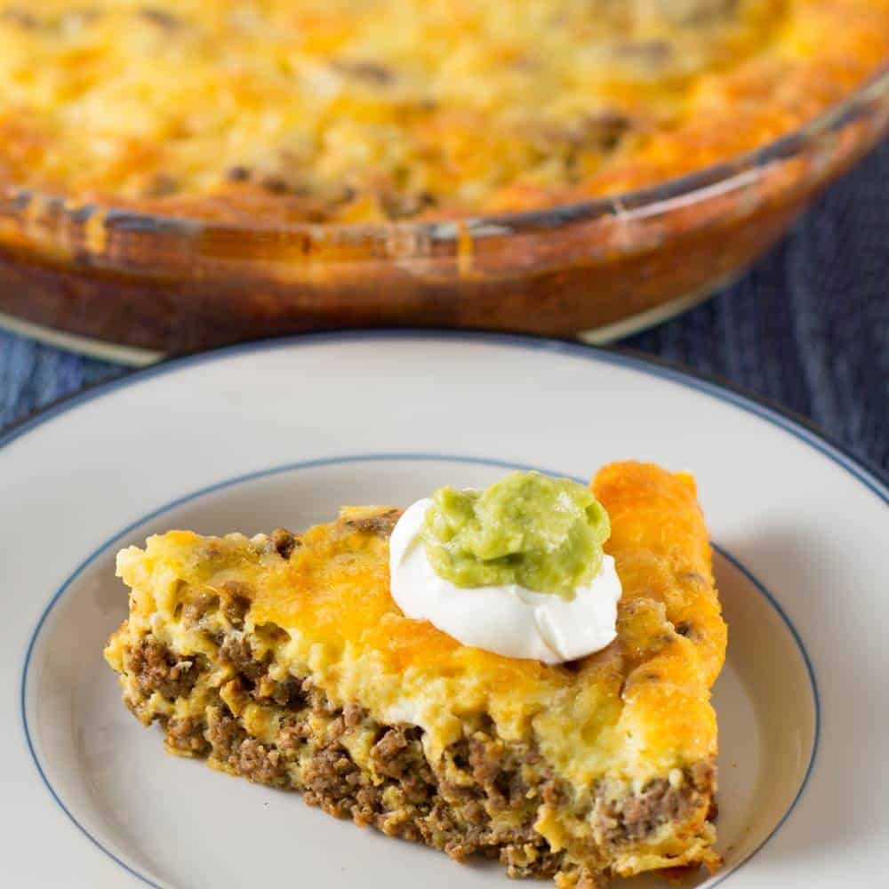 Crustless low carb taco pie | Mother Would Know