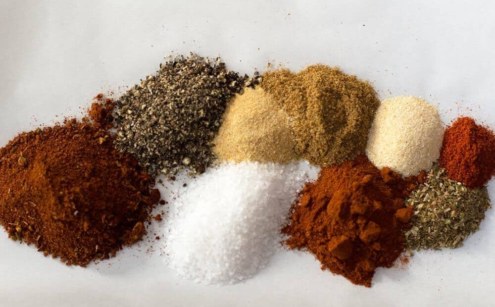 Ingredients for taco seasoning