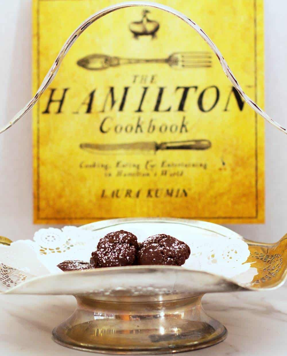 The Hamilton Cookbook with 18th Century Crispy Intensely Chocolate Cookies
