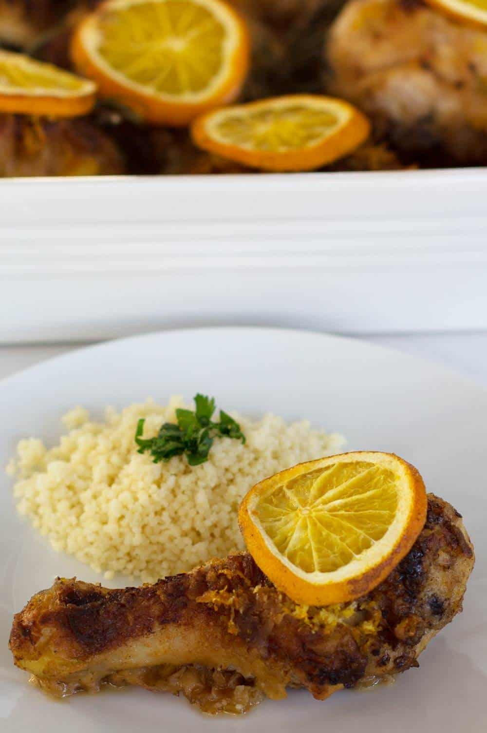Fragrant Baked Orange Rosemary Chicken ready to serve. | Mother Would Know