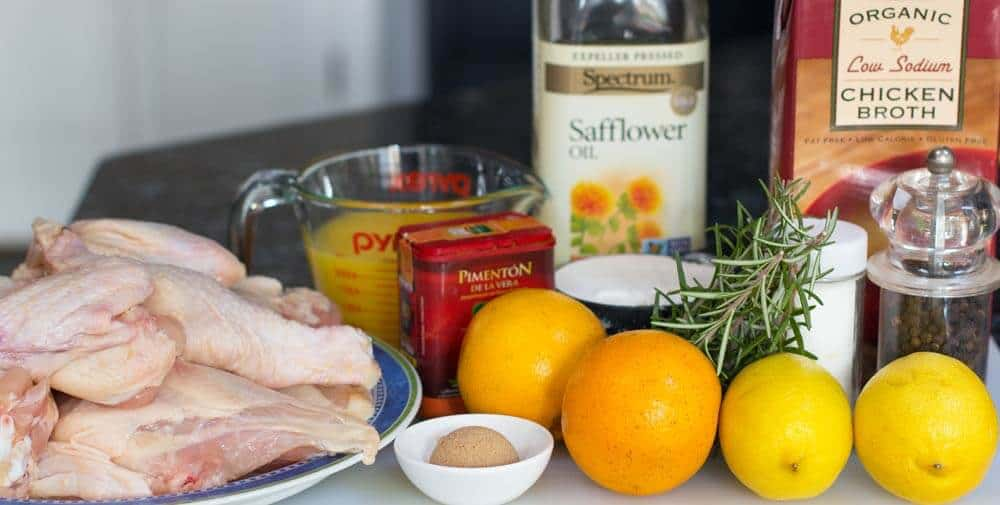 Ingredients for Fragrant Baked Orange Rosemary Chicken