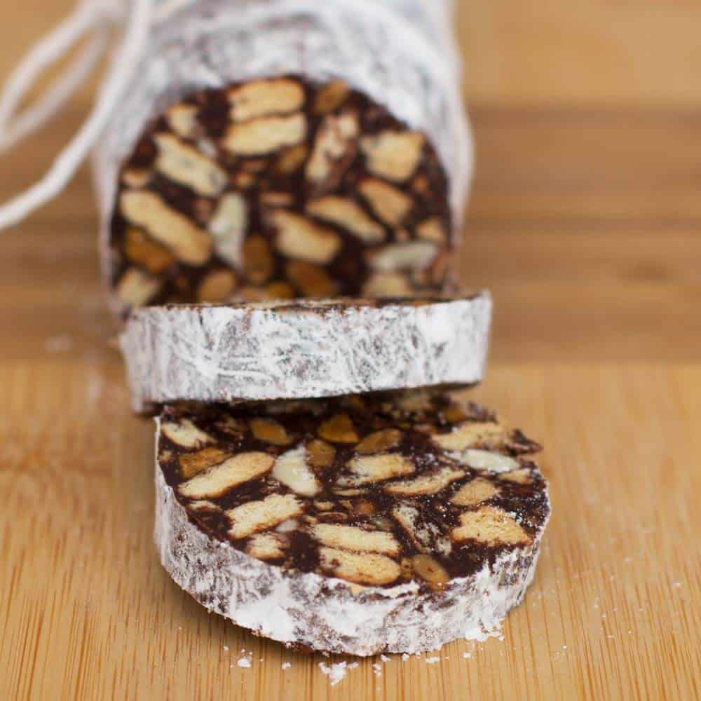 Chocolate Salami - slcied and ready to eat | Mother Would Know