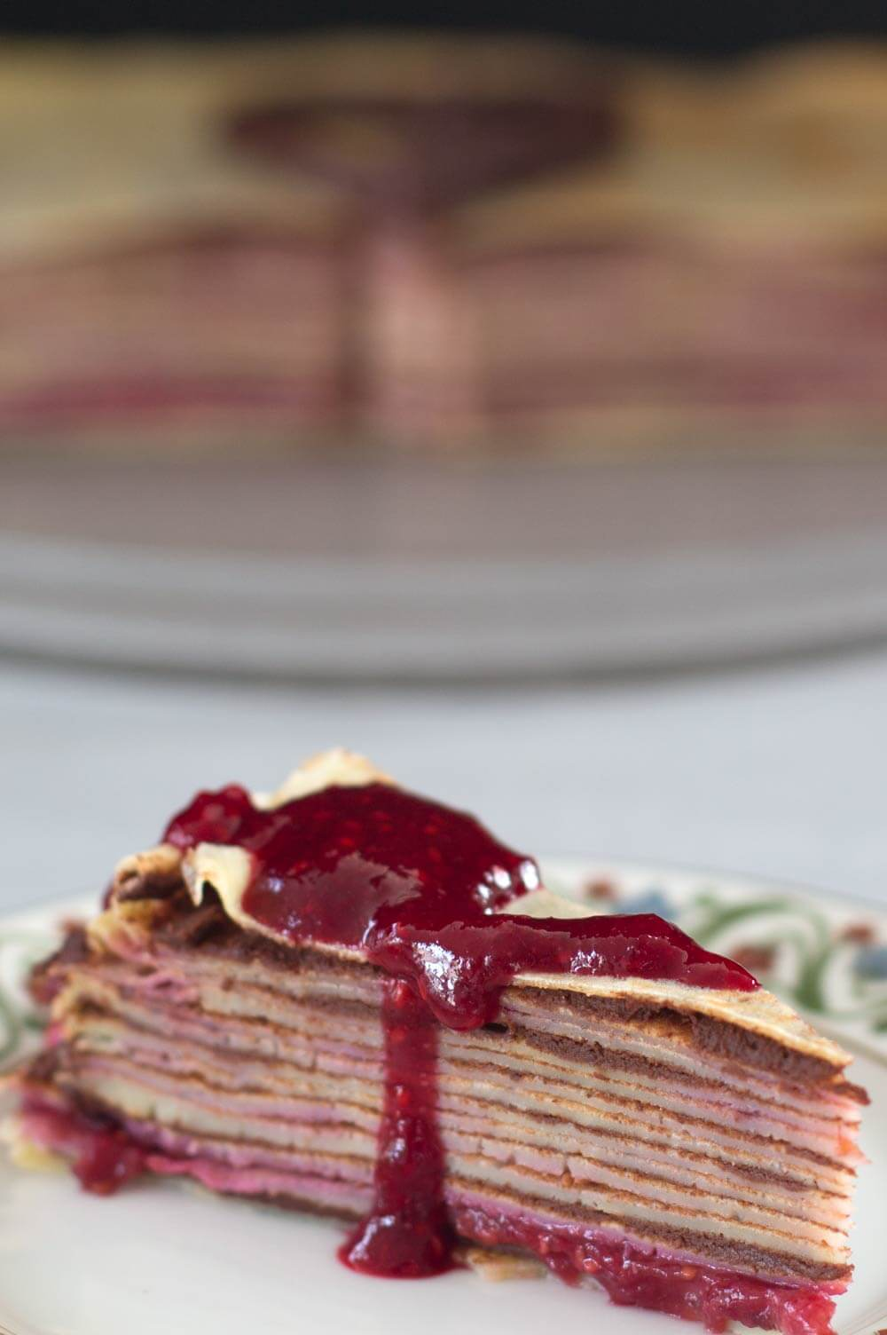 piece of Valentine's Day simple crepe cake
