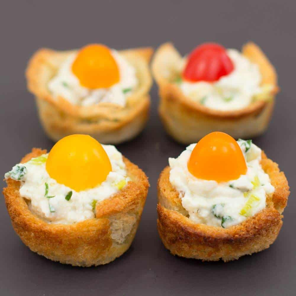 Four Mini Muffin Cup Appetizers