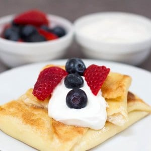 Jewish Cheese Blintzes for Shavuot