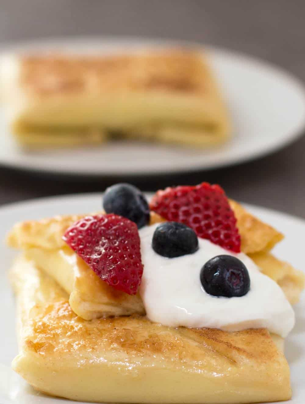 Jewish blintzes for Shavuot, ready to eat. | Mother Would Know
