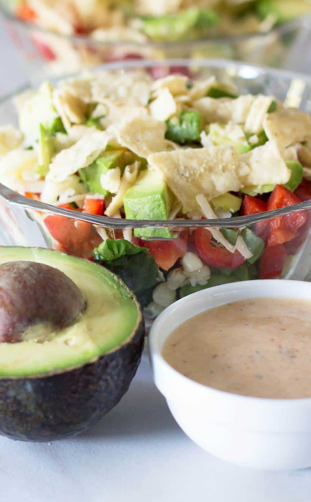 Dressing for Make-Ahead Layered Southwestern Salad | Mother Would Know