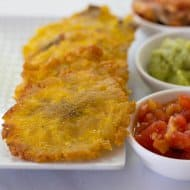 Easy Colombian Patacones or Green Plantains