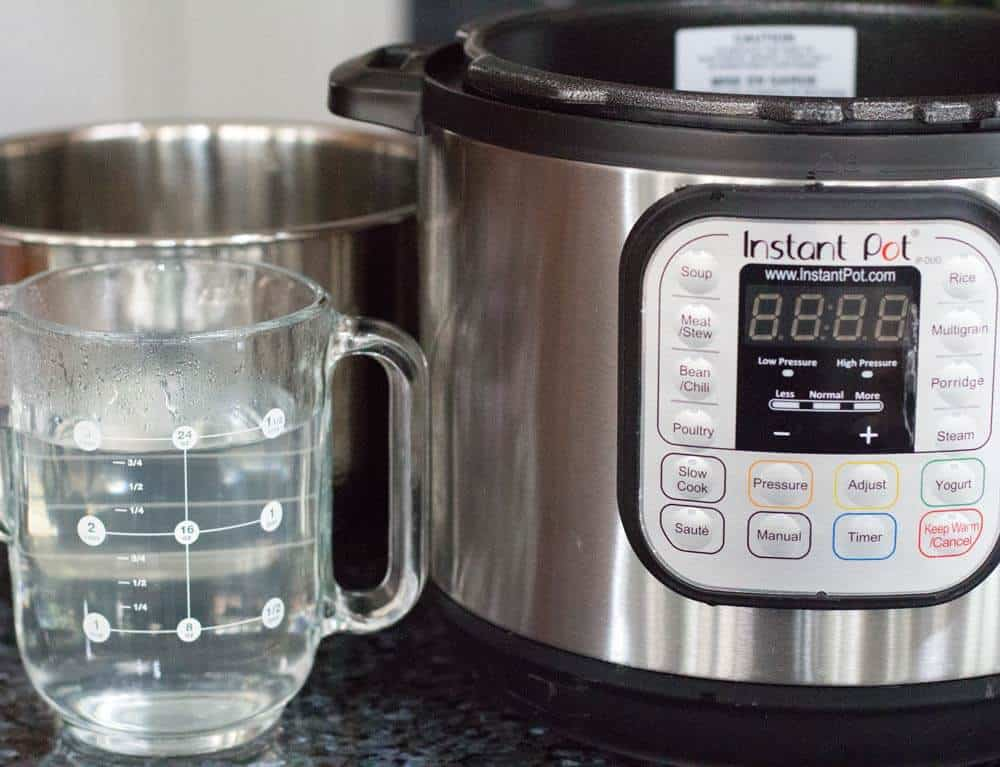 Doing the water test for instant pot