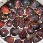 Adding fresh fig halves to topping for upside down cake