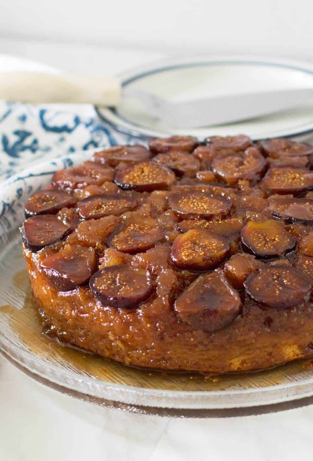 Fig and Ginger Upside Down Cake done