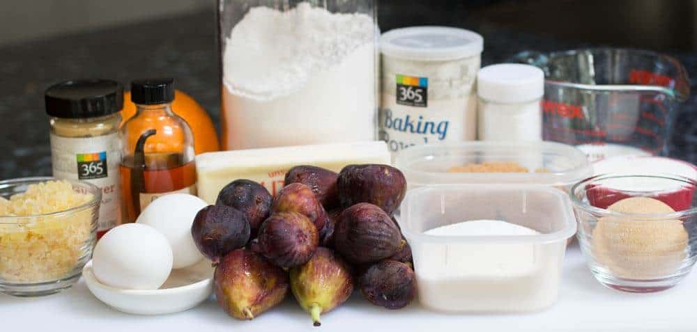 Ingredients for Fig and Ginger Upside Down Cake