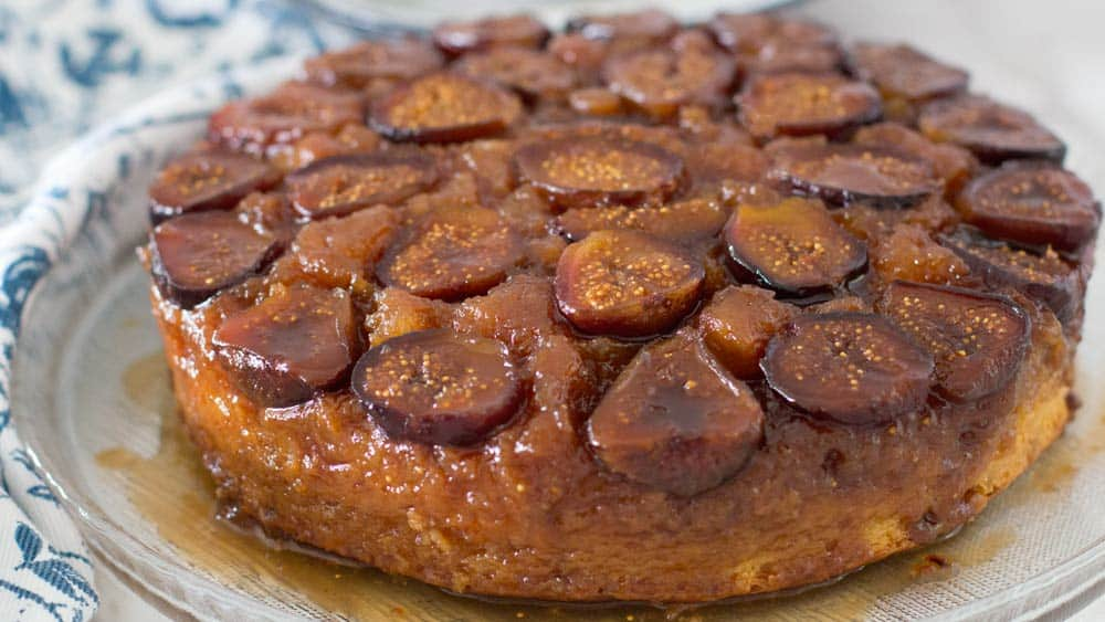 Putting missing figs back on Fig and Ginger Upside Down Cake