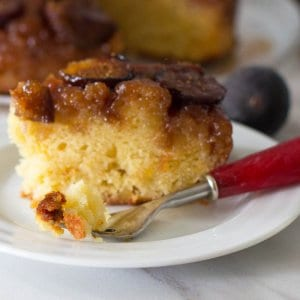Fig and Ginger Upside Down Cake