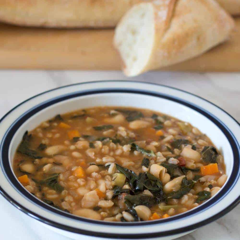 Bowl of Tuscan Farro Bean Soup