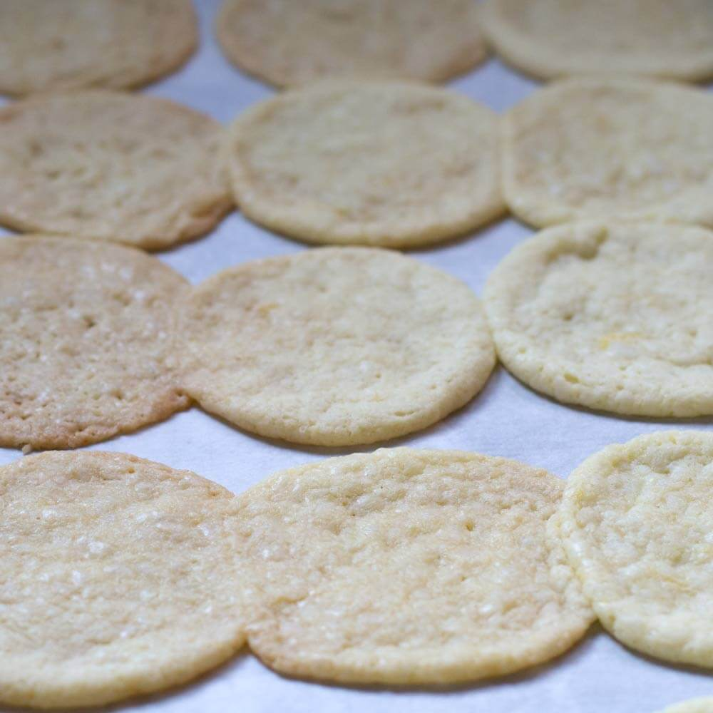 alfajores cookies that failed - they spread out too much